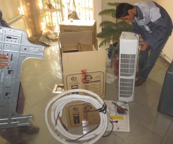 آموزش تصویری نصب کولر گازی