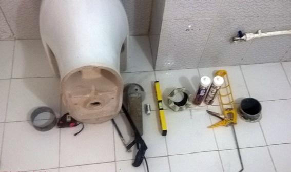 وسایل مورد نیاز نصب توالت فرنگی