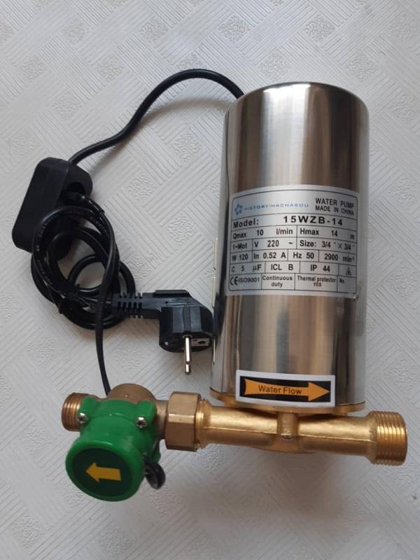 نصب پمپ آب مخصوص افزایش فشار آبگرمکن دیواری